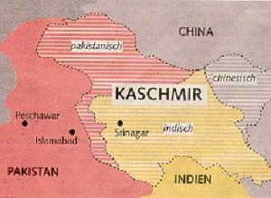 Kaschmir Karte